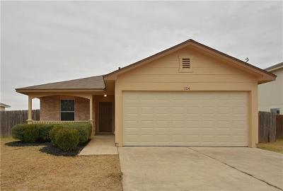 Kyle Single Family Home For Sale: 304 Donatello