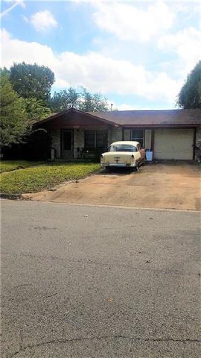 Round Rock Single Family Home Pending - Taking Backups: 109 Fairlane Dr