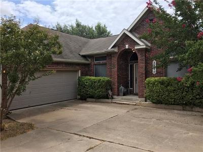 Round Rock Single Family Home For Sale: 3720 Birdhouse Dr