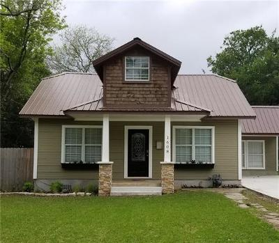 Georgetown Single Family Home For Sale: 1608 Hutto Rd