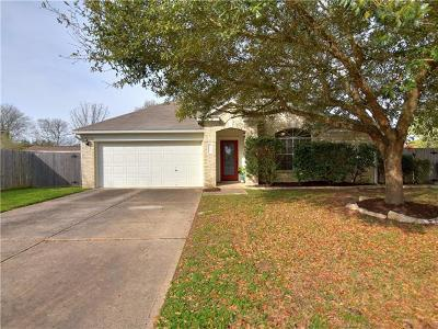 Cedar Park Single Family Home For Sale: 2442 Madeline Loop