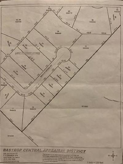 Bastrop County Residential Lots & Land For Sale: Saddle Brook Dr. Tbd