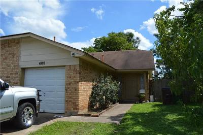 Round Rock Multi Family Home For Sale: 609 Misty Morning Way