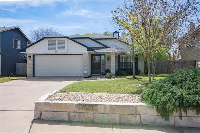 Cedar Park Single Family Home For Sale: 605 Brookside Pass