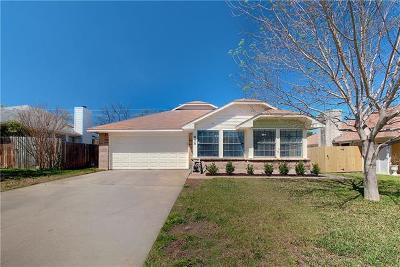 Travis County, Williamson County Single Family Home Pending - Taking Backups: 808 Clearwater Trl