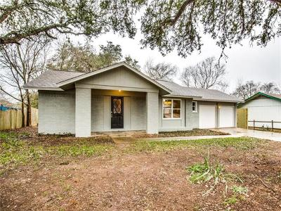 Cedar Park Single Family Home For Sale: 3506 Roanoke Dr