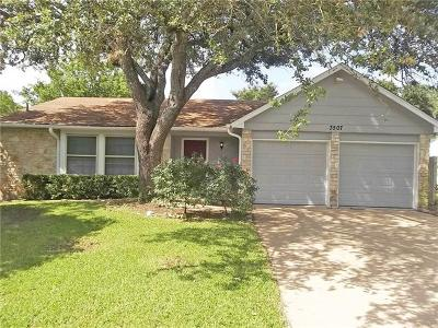 Austin Single Family Home For Sale: 3507 Gable Dr
