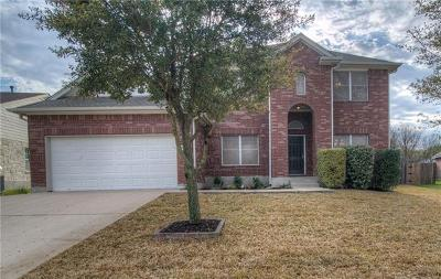 Round Rock Single Family Home For Sale: 118 Justin Leonard Dr