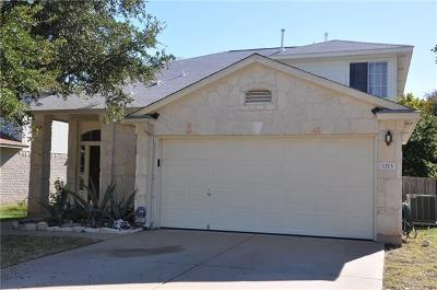 Leander Single Family Home For Sale: 1213 Pine Portage Loop