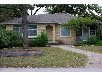 Austin Single Family Home For Sale: 3101 Robinson Ave