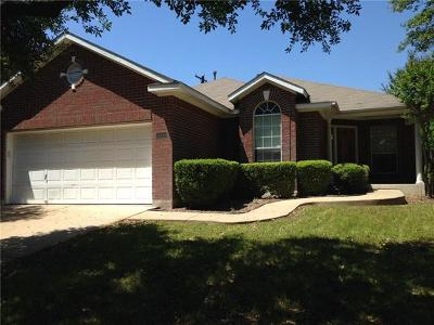 Round Rock Single Family Home For Sale: 3005 Pioneer Way