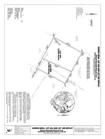 Leander Residential Lots & Land For Sale: To Be Determined Mesa Oaks