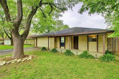 Round Rock Single Family Home For Sale: 1603 Sagebrush Dr