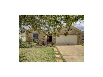 Leander Single Family Home Active Contingent: 907 Downridge Dr