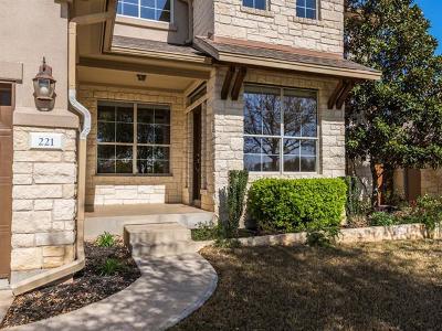 Austin Single Family Home For Sale: 221 Saint Richie Ln