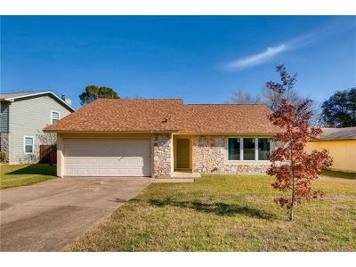 Travis County, Williamson County Single Family Home Pending - Taking Backups: 12209 Scribe Dr