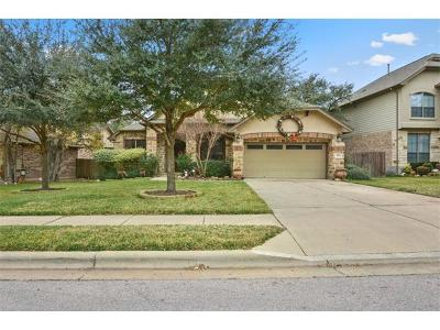 Round Rock Single Family Home For Sale: 3963 Sapphire Loop