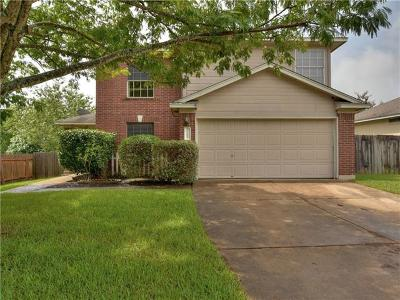 Round Rock Single Family Home For Sale: 1707 Verbena Way