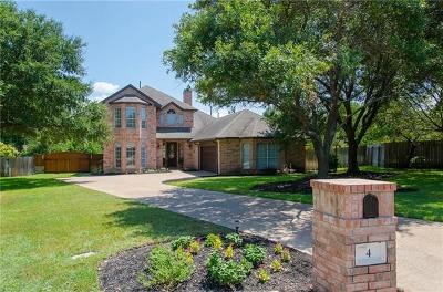 Round Rock Single Family Home For Sale: 4 Scenic Ter