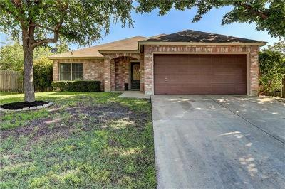 Round Rock Single Family Home For Sale: 3635 Bass Loop