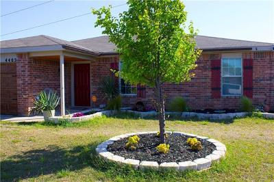 Killeen TX Single Family Home For Sale: $109,700