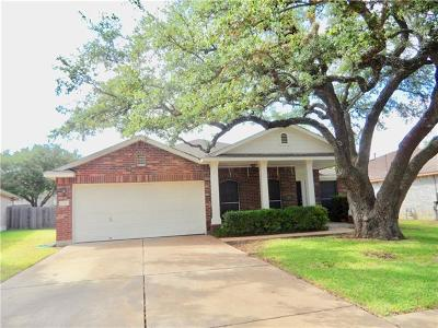 Leander Single Family Home Pending - Taking Backups: 17506 Bottle Springs Ln