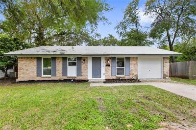 Travis County Single Family Home Pending - Taking Backups: 8713 Bridgeport Dr