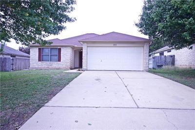 Leander Single Family Home Pending - Taking Backups: 511 Millcreek Ln