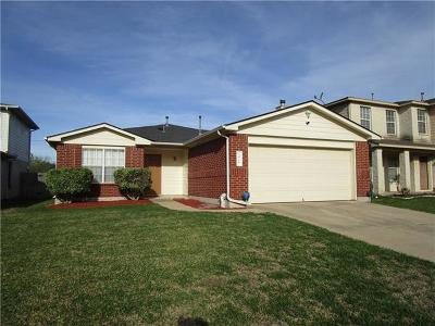 Round Rock Single Family Home For Sale: 3918 Haleys Way