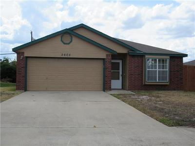 Killeen TX Single Family Home For Sale: $114,900