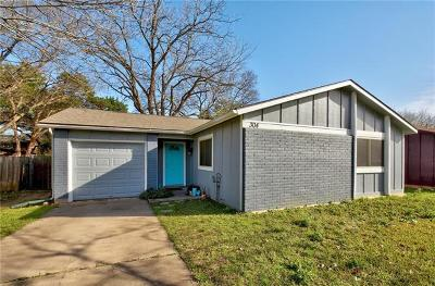 Travis County Single Family Home Pending - Taking Backups: 304 Blueberry Hl