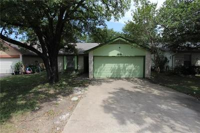Round Rock Single Family Home For Sale: 1618 Peachtree Valley Dr
