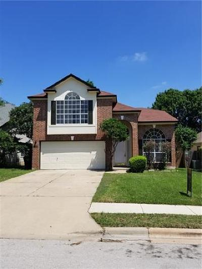 Round Rock Single Family Home For Sale: 1008 Double File Trl