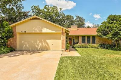 Travis County, Williamson County Single Family Home Pending - Taking Backups: 4823 Gerona Dr