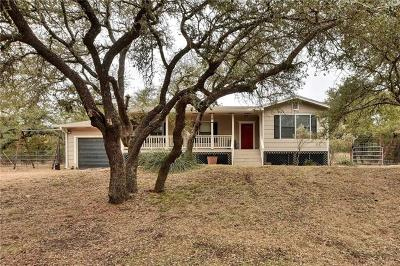 Dripping Springs Single Family Home For Sale: 1801 Spring Valley Dr