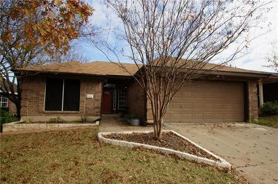 Leander Single Family Home For Sale: 1506 Greening Way