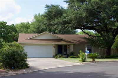 Round Rock Single Family Home For Sale: 1104 Stratford Ct
