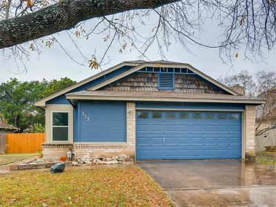 Cedar Park Single Family Home For Sale: 713 Cluck Creek Trl