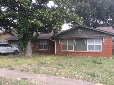 Austin TX Single Family Home For Sale: $349,000
