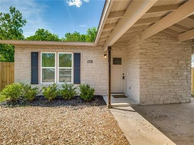 Single Family Home For Sale: 1718 Hillcrest Ln