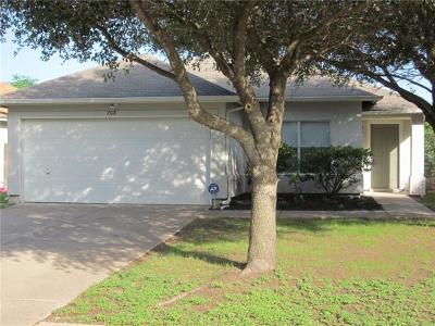 Cedar Park TX Single Family Home For Sale: $199,900