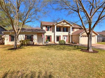 Round Rock Single Family Home Active Contingent: 1806 Chincoteague Way