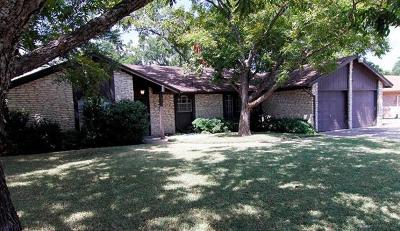 Round Rock Single Family Home For Sale: 402 White Wing Way