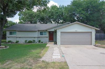 Cedar Park Single Family Home For Sale: 302 Twin Oak Trl