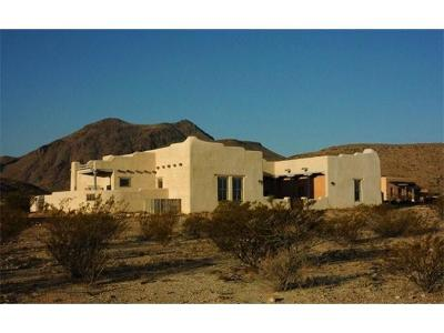 Single Family Home For Sale: 1030-1040 Terlingua Ranch Rd