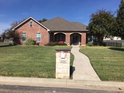 Lampasas County Single Family Home Active Contingent: 2109 Rocky Mountain Dr