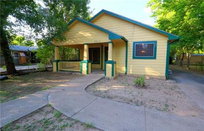 Travis County Single Family Home For Sale: 2810 Castro St