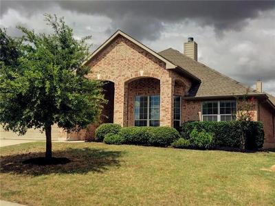 Round Rock  Single Family Home For Sale: 3617 Rams Horn Way