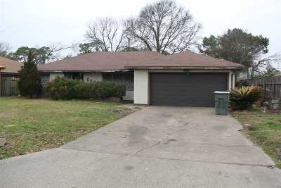 Port Arthur Single Family Home For Sale: 5253 Lakeside Drive