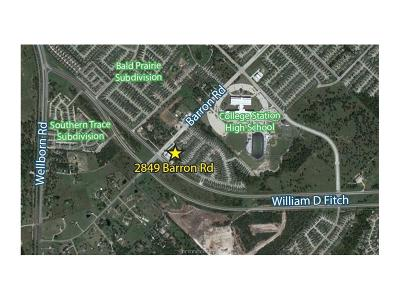 College Station Residential Lots & Land For Sale: 2849 Barron Road